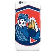 Scotsman Beer Drinker Mug Shield Retro iPhone Case/Skin
