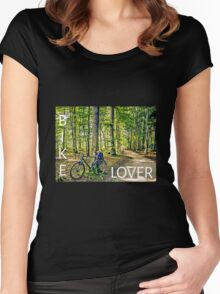 Bike Lover Women's Fitted Scoop T-Shirt