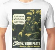 Vintage poster - Clean your plate Unisex T-Shirt