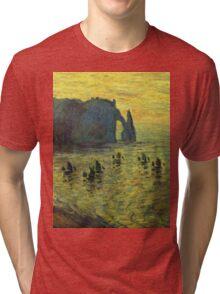 Claude Monet - The Cliffs At Etretat 1886 Tri-blend T-Shirt