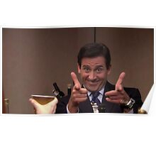 michael scott finger guns Poster
