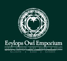 Eeylops Owl Emporium in White T-Shirt