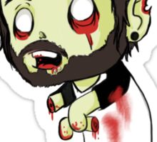 Bearded zombie Sticker
