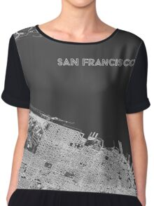San Francisco in wireframe, alternate angle Chiffon Top