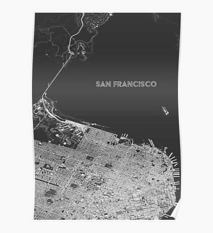 San Francisco alternate angle Poster