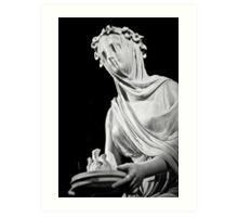Veiled Vestal Virgin Art Print