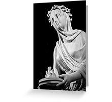 Veiled Vestal Virgin Greeting Card