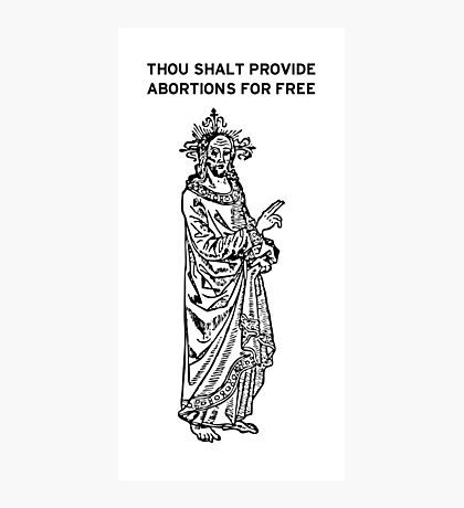Thou Shalt Photographic Print