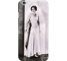 1920s Flapper Glamour Girl in a White Satin Gown iPhone Case/Skin