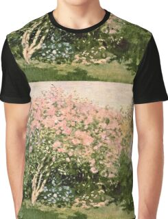 Claude Monet - Lilac In The Sun 1873  Graphic T-Shirt