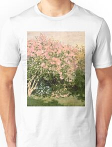 Claude Monet - Lilac In The Sun 1873  Unisex T-Shirt