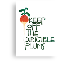 Keep Off the Dirigible Plums Canvas Print