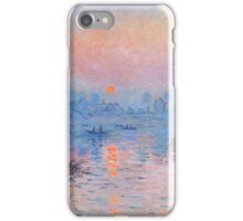 Claude Monet - Sunset On The Seine At Lavacourt Winter Effect iPhone Case/Skin