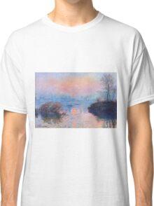 Claude Monet - Sunset On The Seine At Lavacourt Winter Effect 1880 Classic T-Shirt