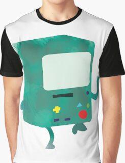 Watercolour Adventure Time BMO Graphic T-Shirt