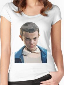 Stranger Things Eleven Artwork Women's Fitted Scoop T-Shirt