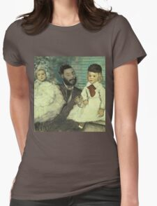 Edgar Degas - Comte Le Pic And His Sons Womens Fitted T-Shirt