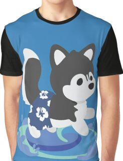 Surfer Husky Graphic T-Shirt