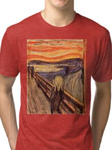 Edvard Munch - The Scream 1893  Tri-blend T-Shirt