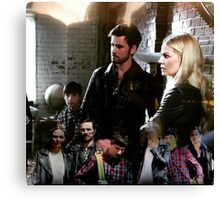 Family Time Fighting Crime Canvas Print