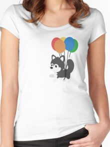 Balloon Husky Women's Fitted Scoop T-Shirt