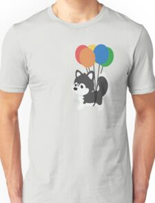 Balloon Husky Unisex T-Shirt