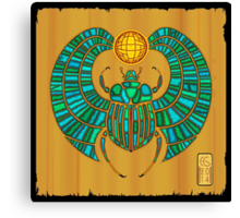 Scarab On Papyrus  Canvas Print
