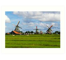 Three Windmills Art Print