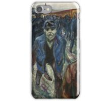 Edvard Munch - Workers On Their Way Home iPhone Case/Skin