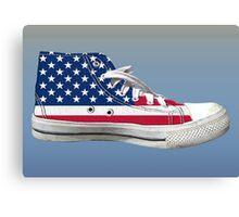 Hi Top Basketball Shoe United States Canvas Print