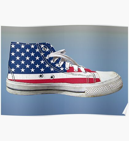 Hi Top Basketball Shoe United States Poster