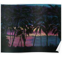 Miami, Florida Sunset Poster
