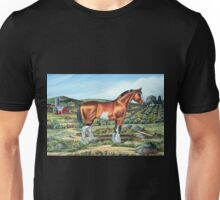 CLYDESDALE.......(on craft foam) Unisex T-Shirt