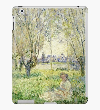 Claude Monet - Woman Seated Under The Willows 1880  iPad Case/Skin