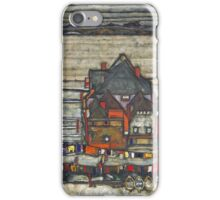 Egon Schiele - Houses With Laundry - Seeburg Ha User Mit Bunter Wa Sche 1914 iPhone Case/Skin