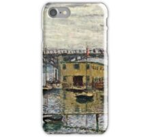 Claude Monet - Bridge At Argenteuil On A Gray Day 1886  iPhone Case/Skin