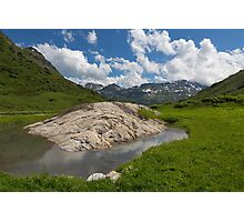 Rock on the European Watershed near Flexen Pass Photographic Print