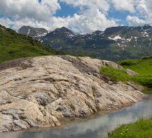 Rock on the European Watershed near Flexen Pass Sticker
