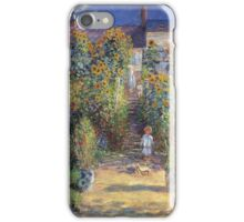 Claude Monet - The Artist S Garden At Vetheuil 1881 iPhone Case/Skin