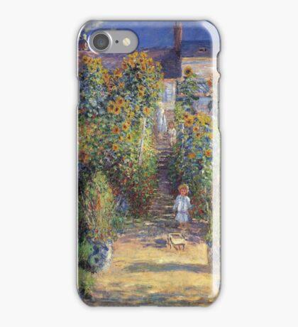Claude Monet - The Artist S Garden At Vetheuil 1881 iPhone Case/Skin