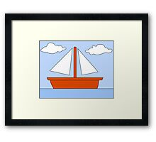 Sailboat - The Simpsons Framed Print
