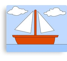 Sailboat - The Simpsons Canvas Print