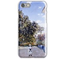 Claude Monet - Garden Of The Artist At Argenteuil 1873  iPhone Case/Skin
