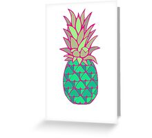 Colorful Pineapple Greeting Card