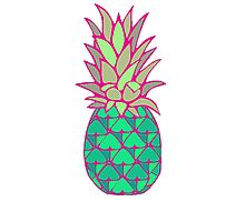 Colorful Pineapple Photographic Print