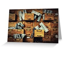 Filing System Greeting Card