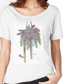 Rattail Cactus sketch Women's Relaxed Fit T-Shirt