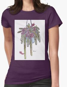 Rattail Cactus sketch Womens Fitted T-Shirt