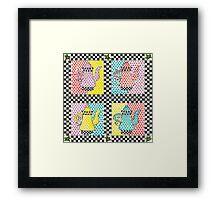 Four Teapots Framed Print
