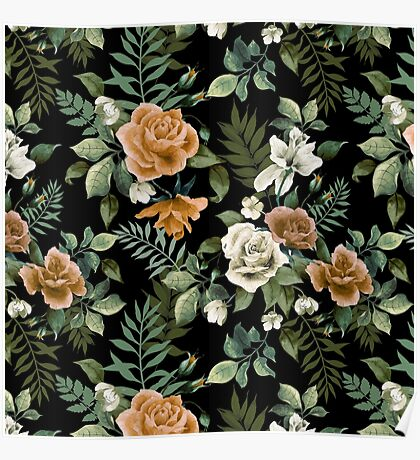 Floral pattern 3 Poster